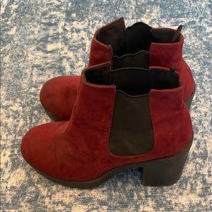 Divided bootie/heels
